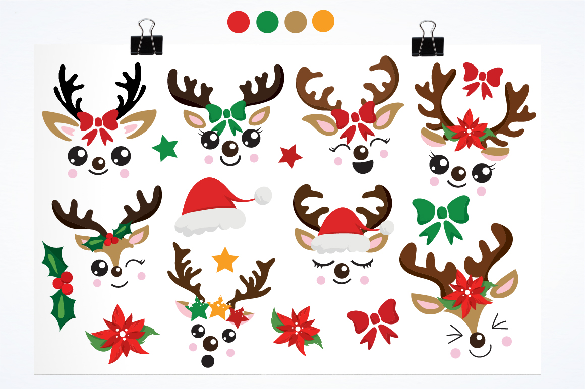 Reindeer icons graphics and illustrations example image 2