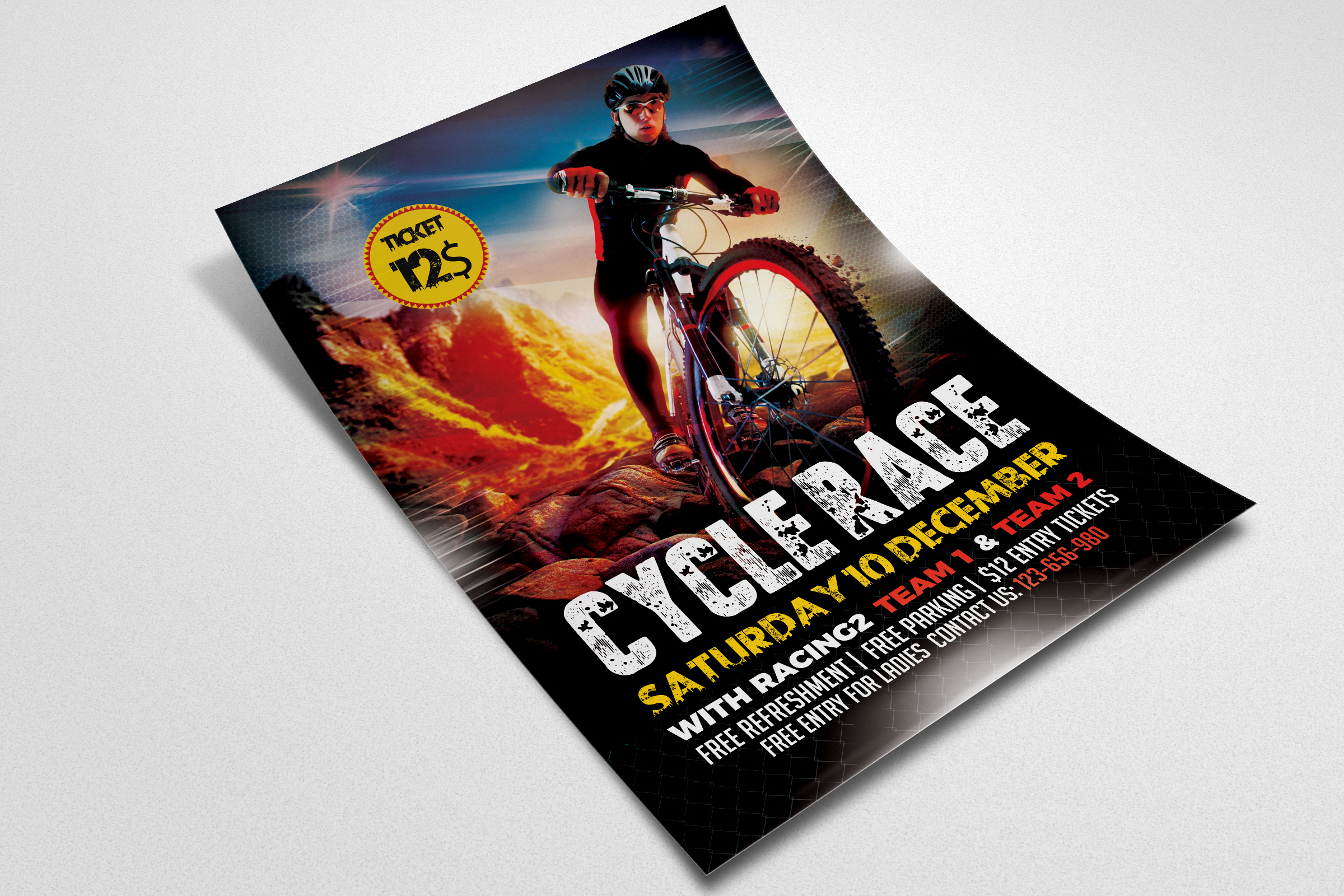 Mountain Bicycle Racing Flyer example image 2