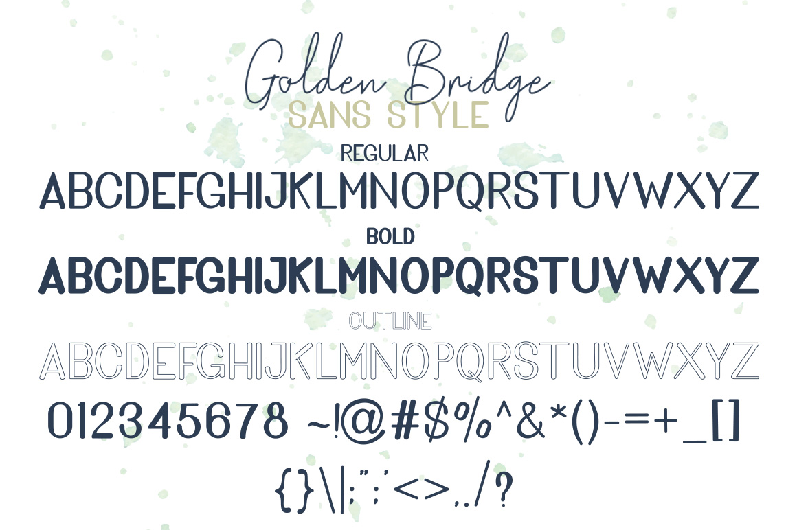 Golden Bridge Font Duo example image 9