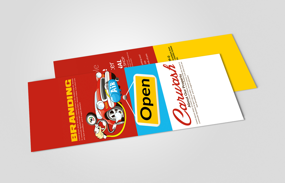 Car Wash & Services Rack Card Template example image 2