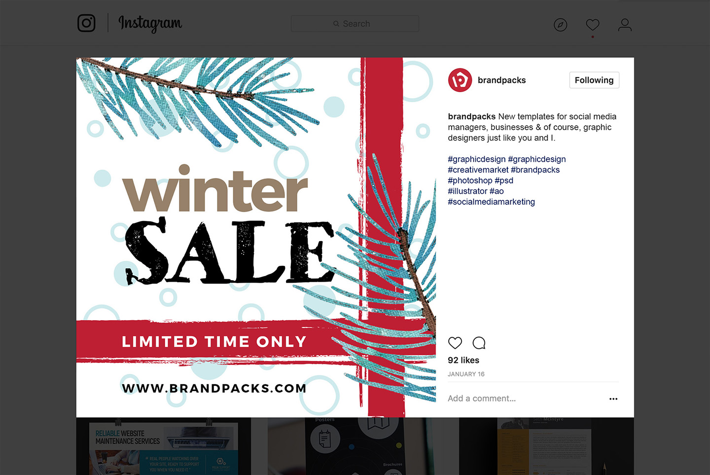 Winter Social Media Templates example image 14