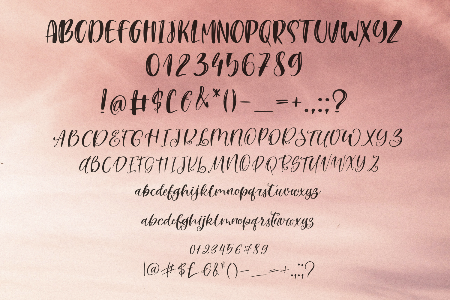September Night. Font Duo example image 5