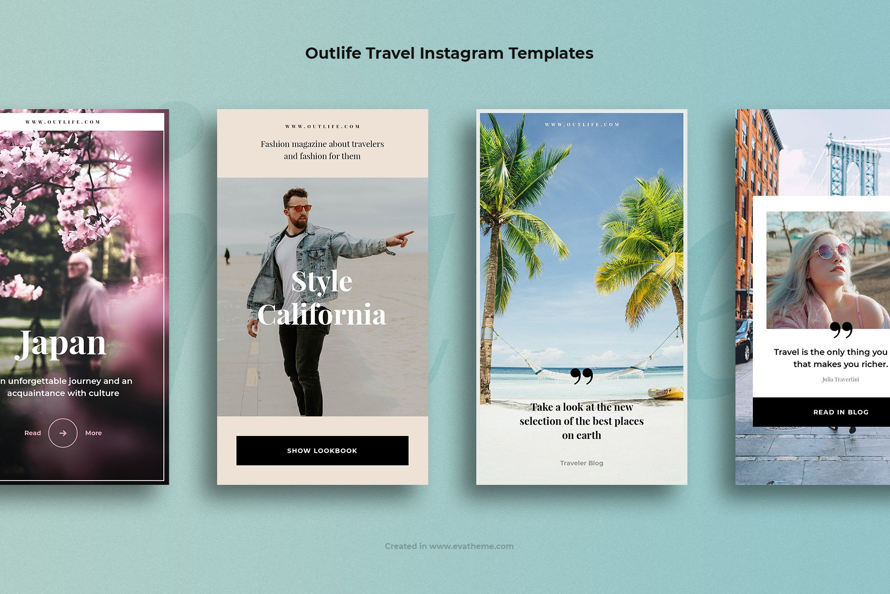Outlife Travel Instagram Templates example image 3