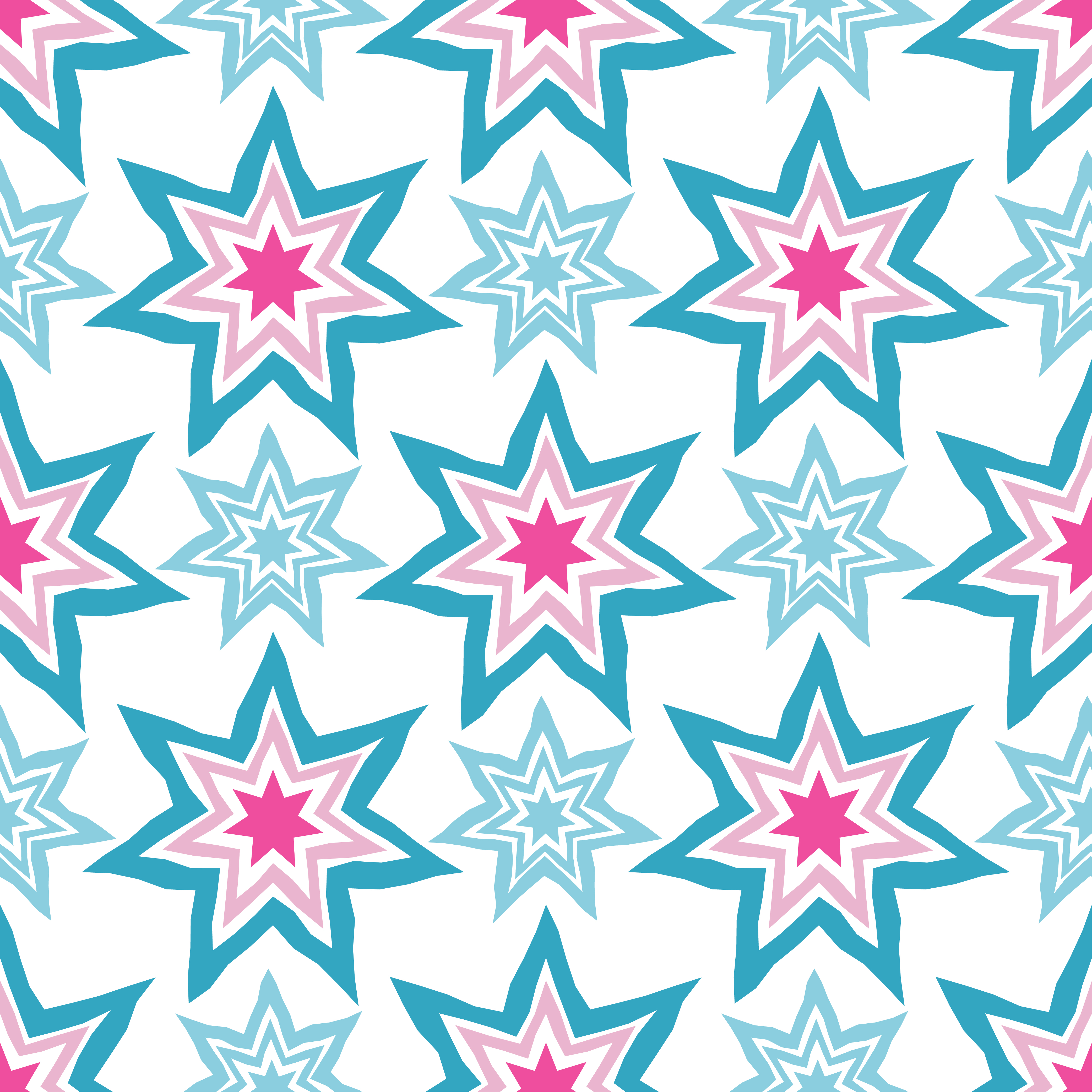 Seamless vector background with decorative stars. Vector illustration. Textile rapport.  example image 1