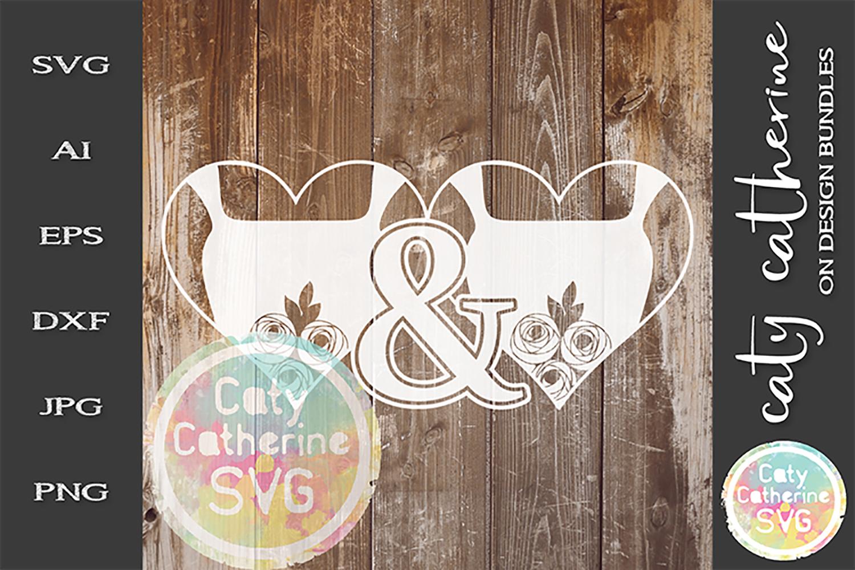 Mrs & Mrs Bride & Bride Wedding SVG Cut File example image 1