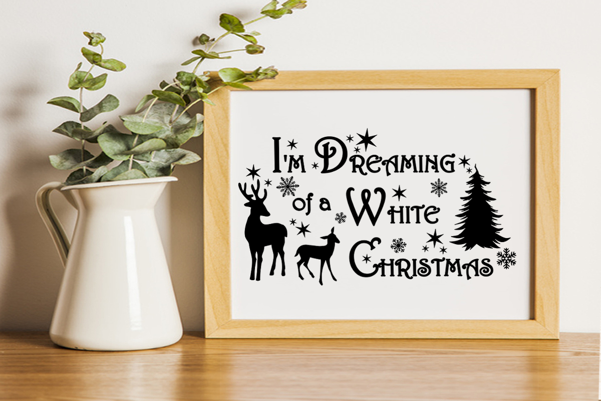 Christmas svg I'm dreaming of a white Christmas Winter svg example image 4