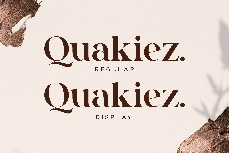 Quakiez - Luxury Modern Serif example image 15