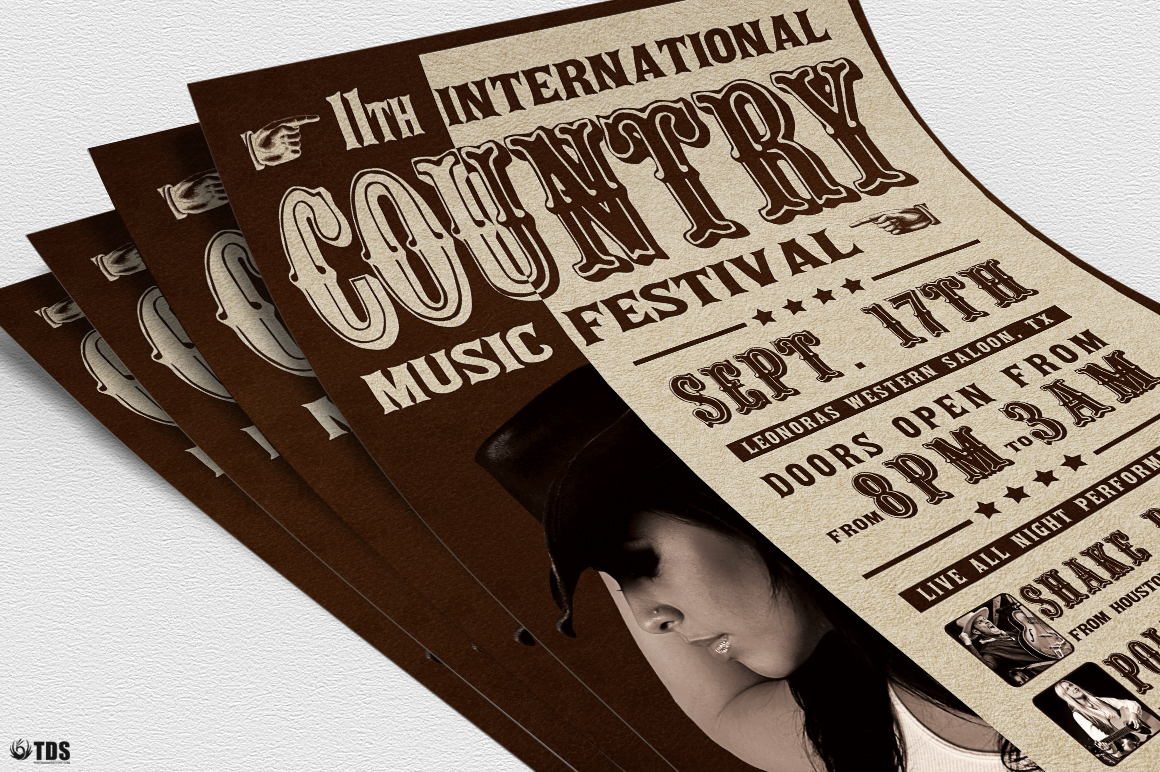 Country Live Flyer Template V7 example image 4