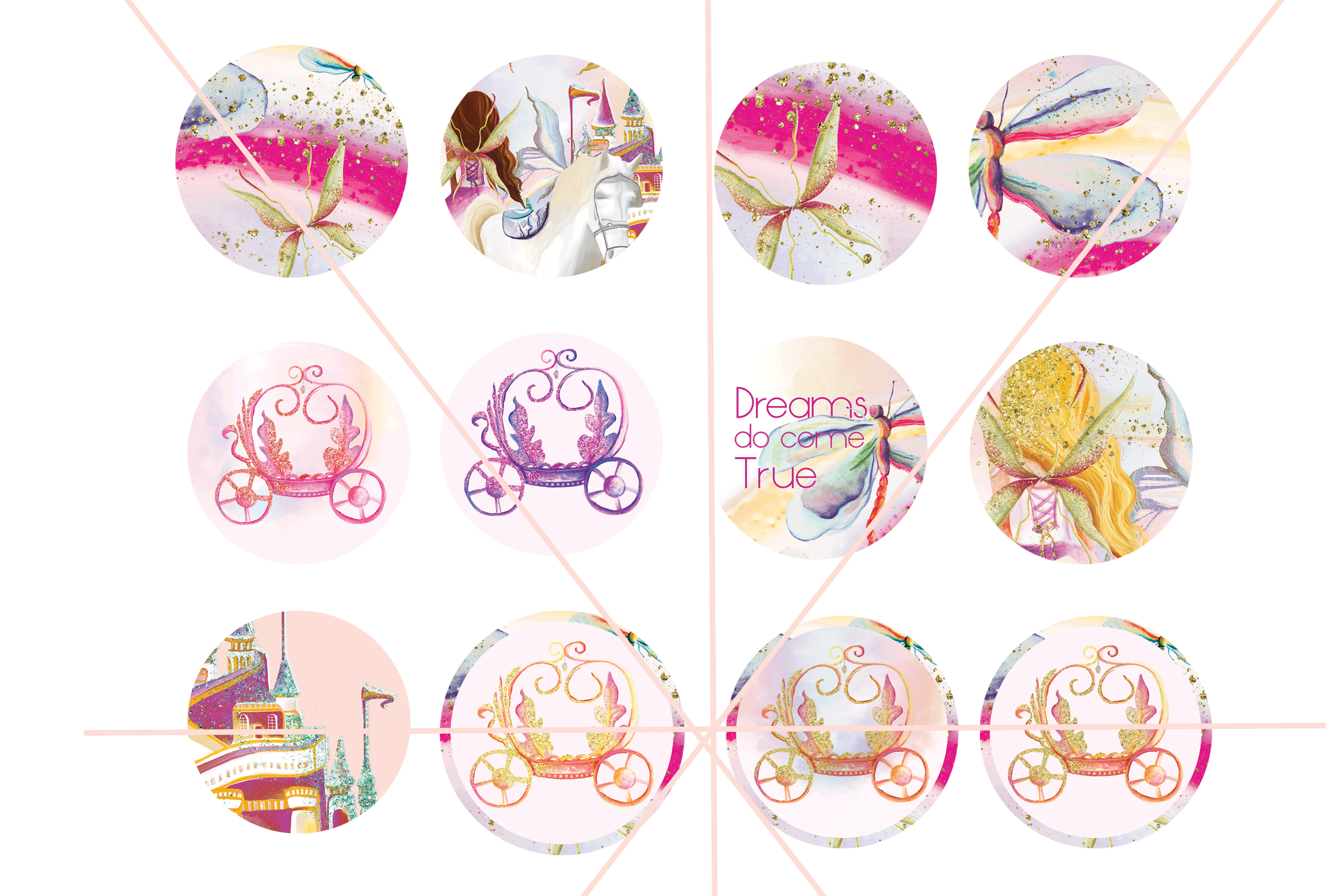 Fairy Tales Cup Cake Toppers example image 4