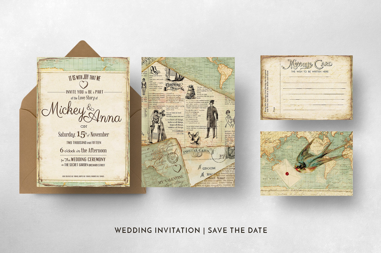 Vintage Journey Wedding Invitation example image 4