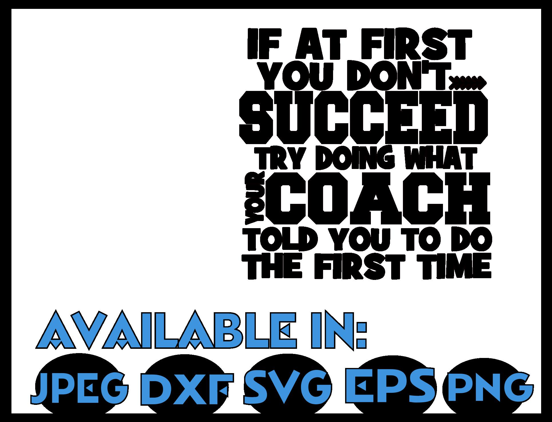 Cheer coach SVG DXF JPEG Silhouette Cameo Cricut coach svg example image 3