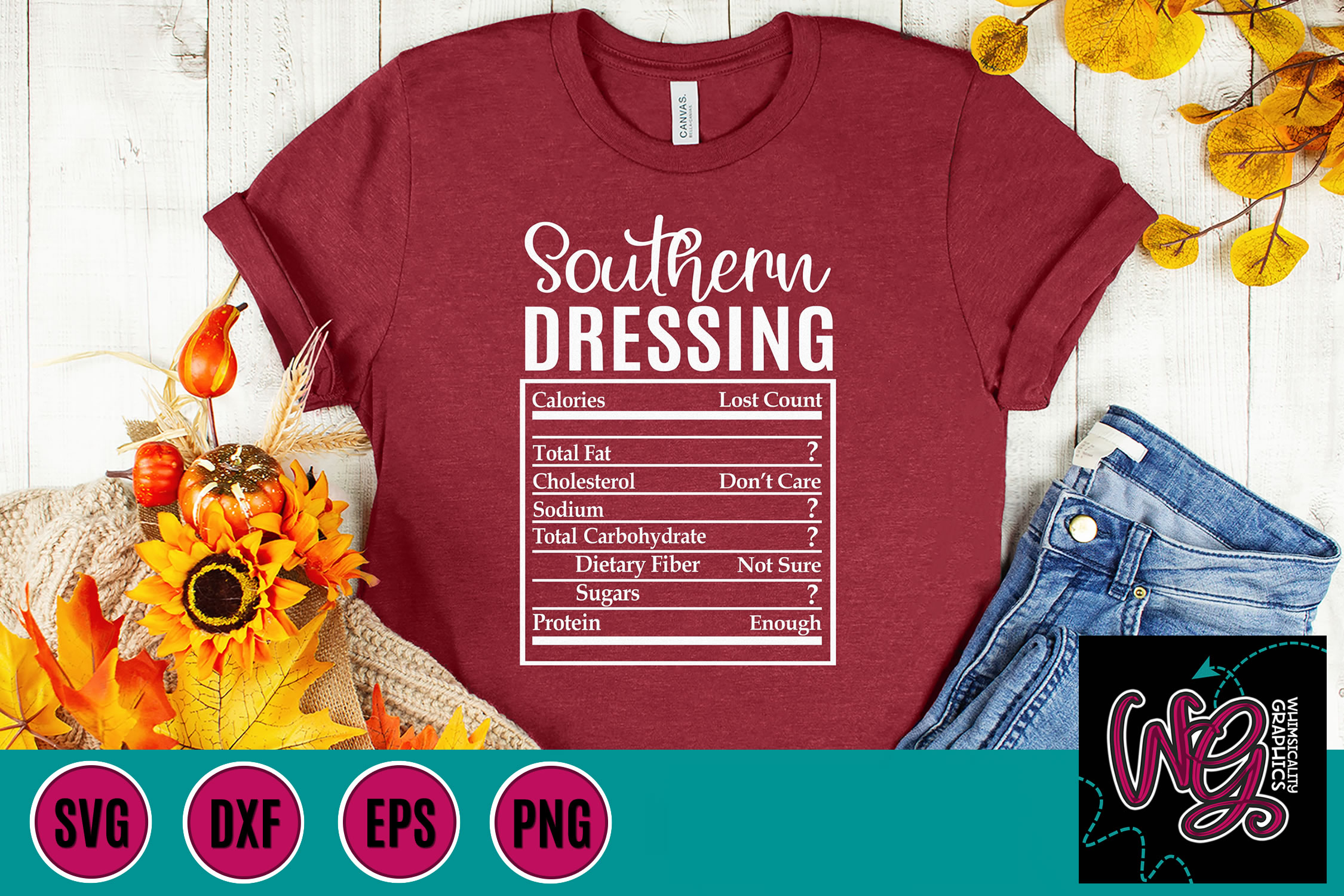 Holiday Food Funny Southern Dressing SVG, DXF, PNG example image 1