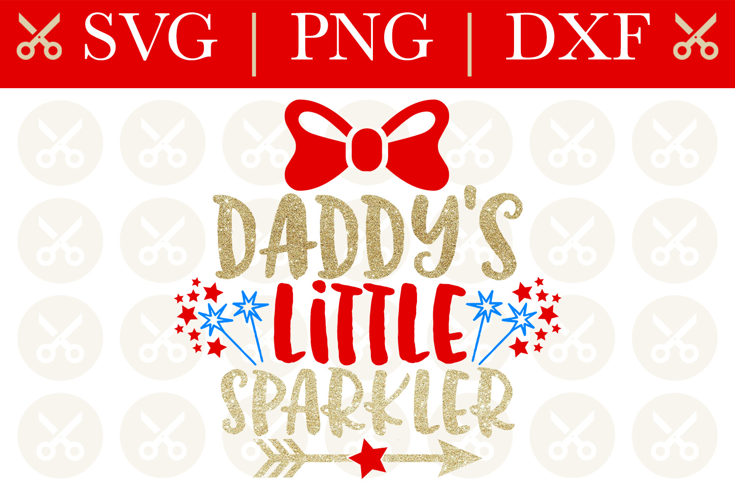 4th Of July Svg Daddy's Little Sparkler Svg Cutting File example image 1