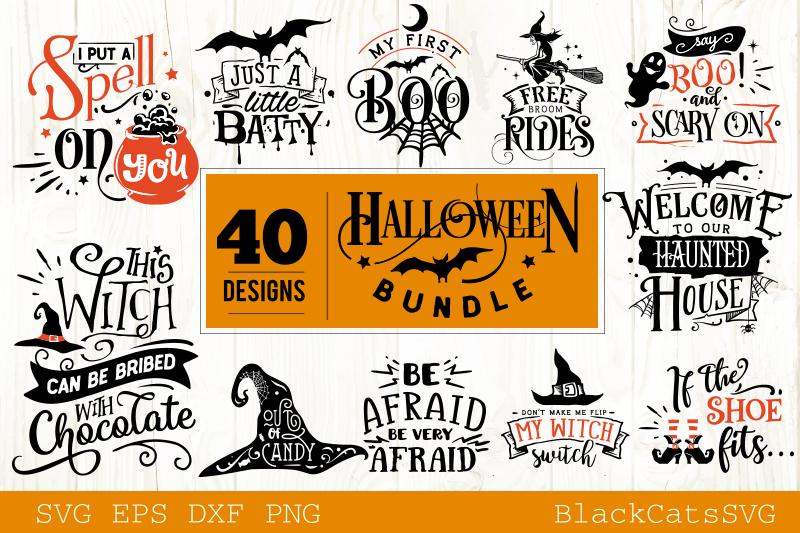 Halloween SVG bundle 40 designs vol 2 example image 3