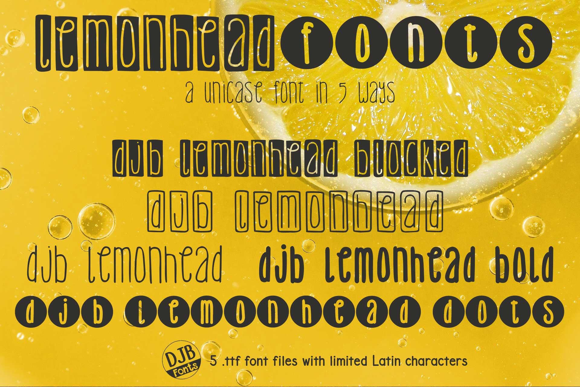 DJB Lemonhead Font Bundle example image 1