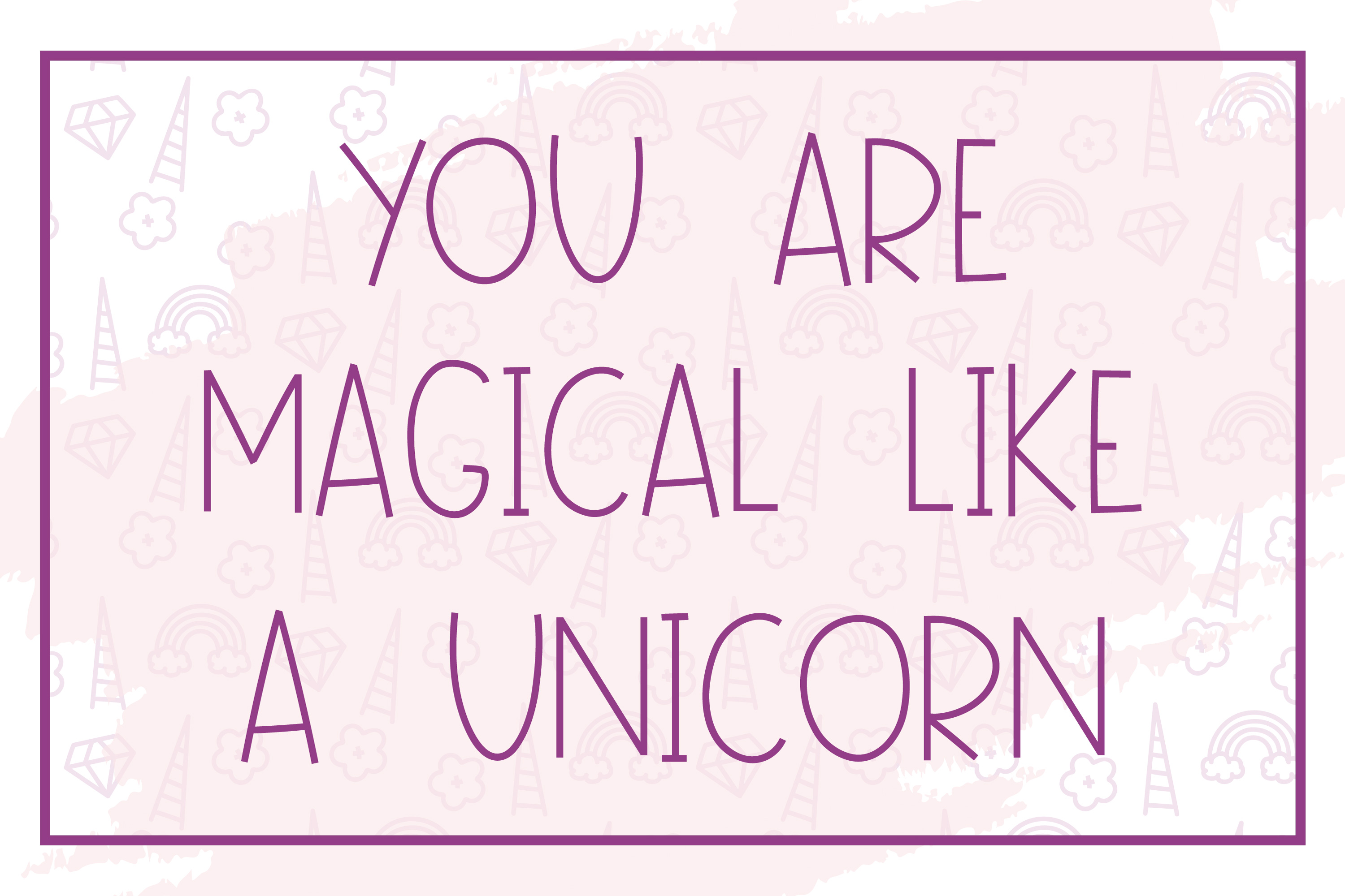 Pink Unicorn - A Magical Monogram Font example image 6