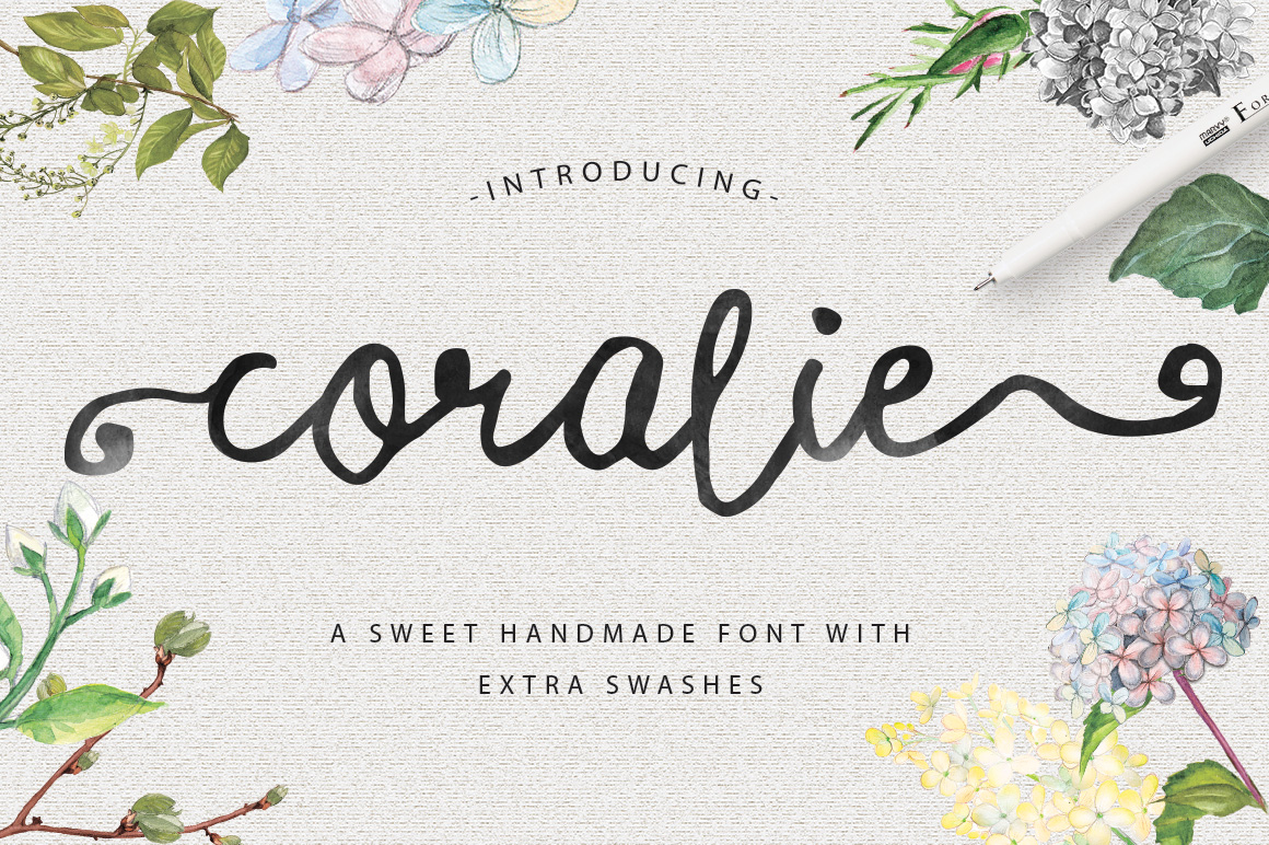 Coralie Typeface example image 1