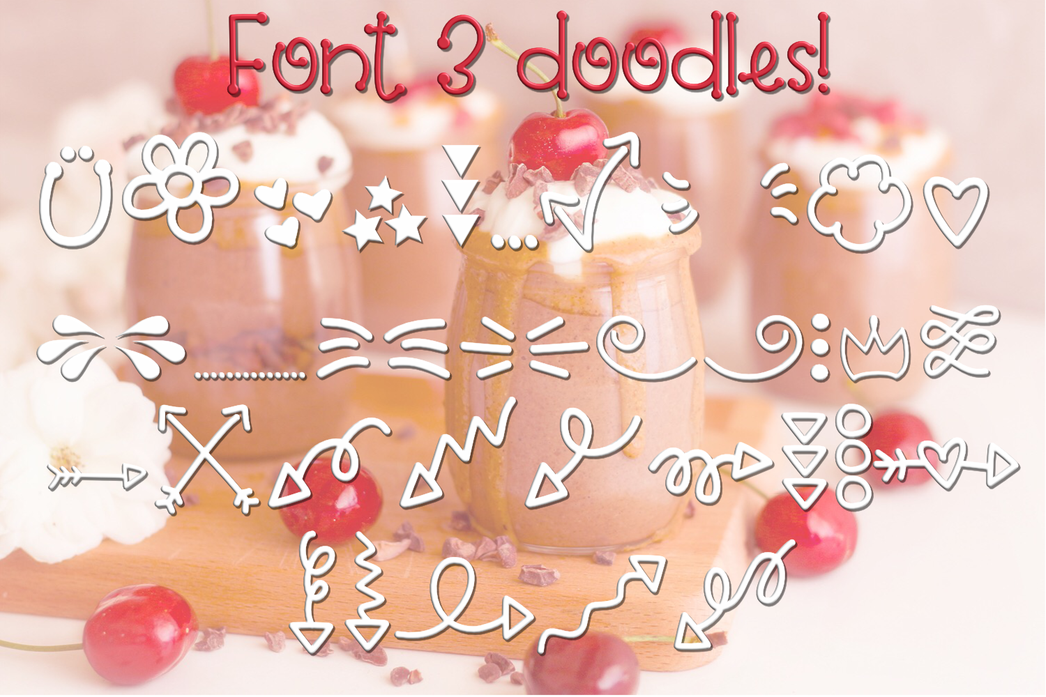 Cherry on Top - A Font Trio with Doodles example image 5