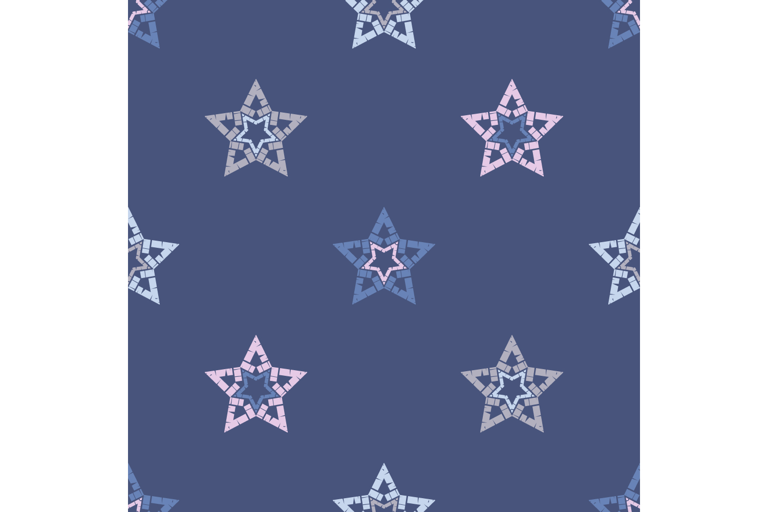Ornament with Stars. Set of 10 seamless patterns. example image 4
