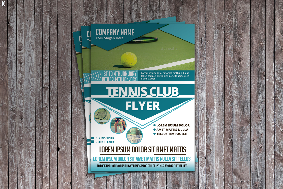 Tennis Flyer Template example image 3