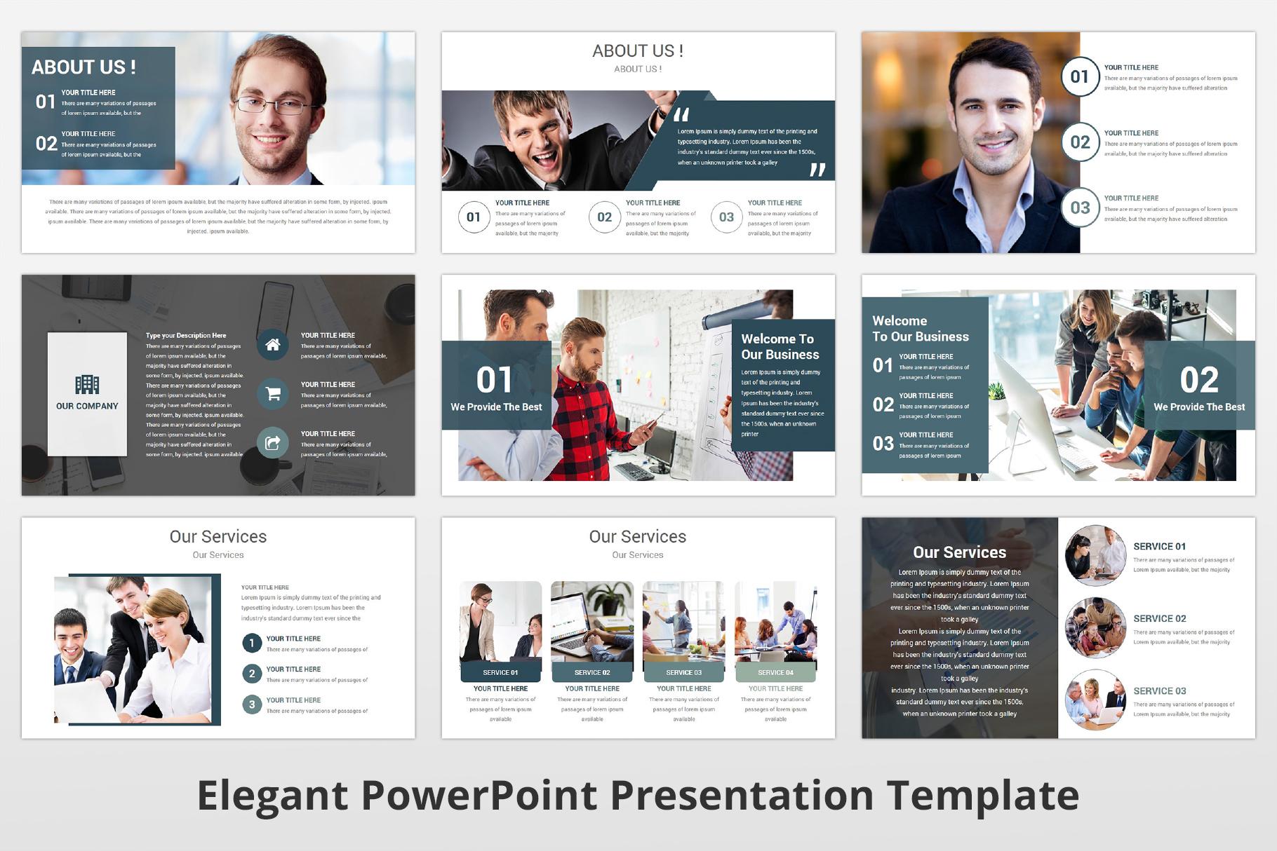 Elegant multipurpose PowerPoint Presentation Template example image 5