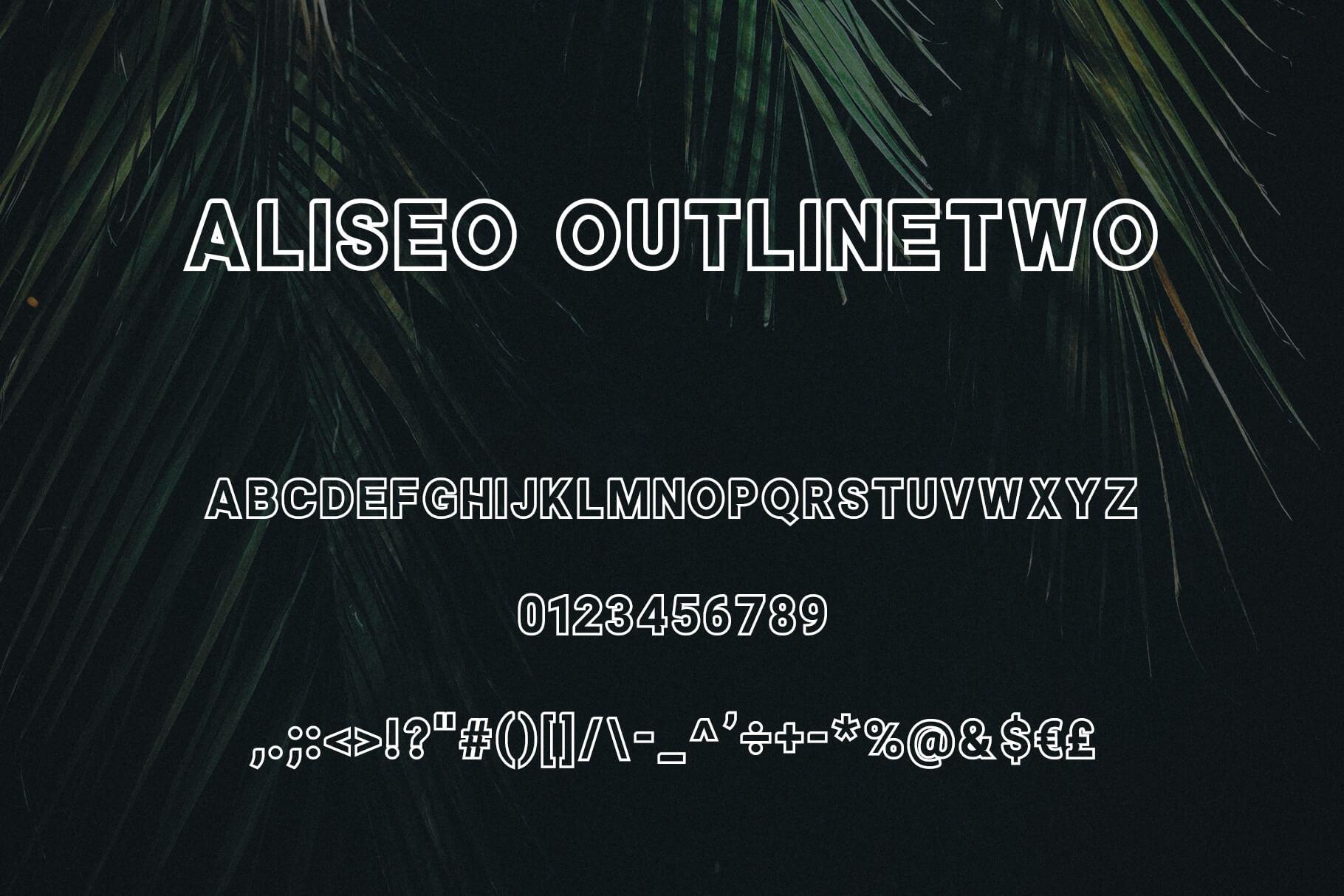 Aliseo Font Family - Sans Serif example image 5