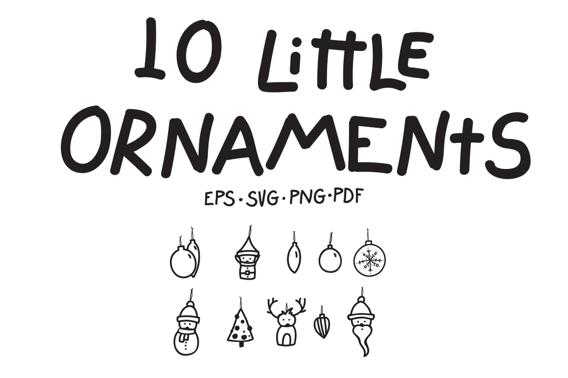 10 Little Ornaments example image 1