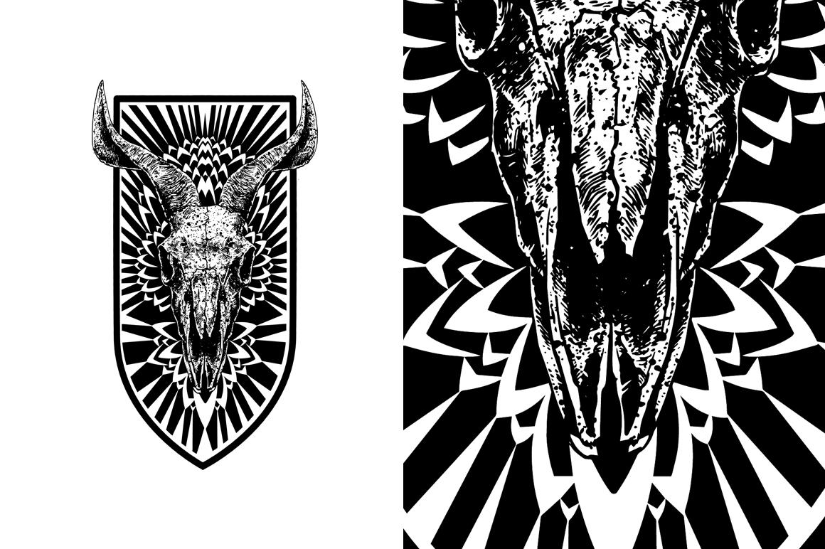 20 VECTOR skull illustration example image 4