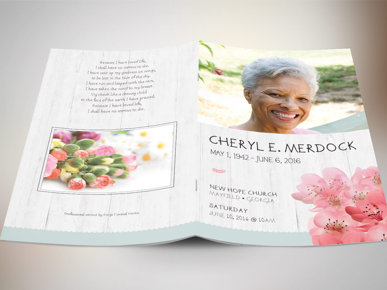 Best Seller Funeral Program Template Bundle example image 4