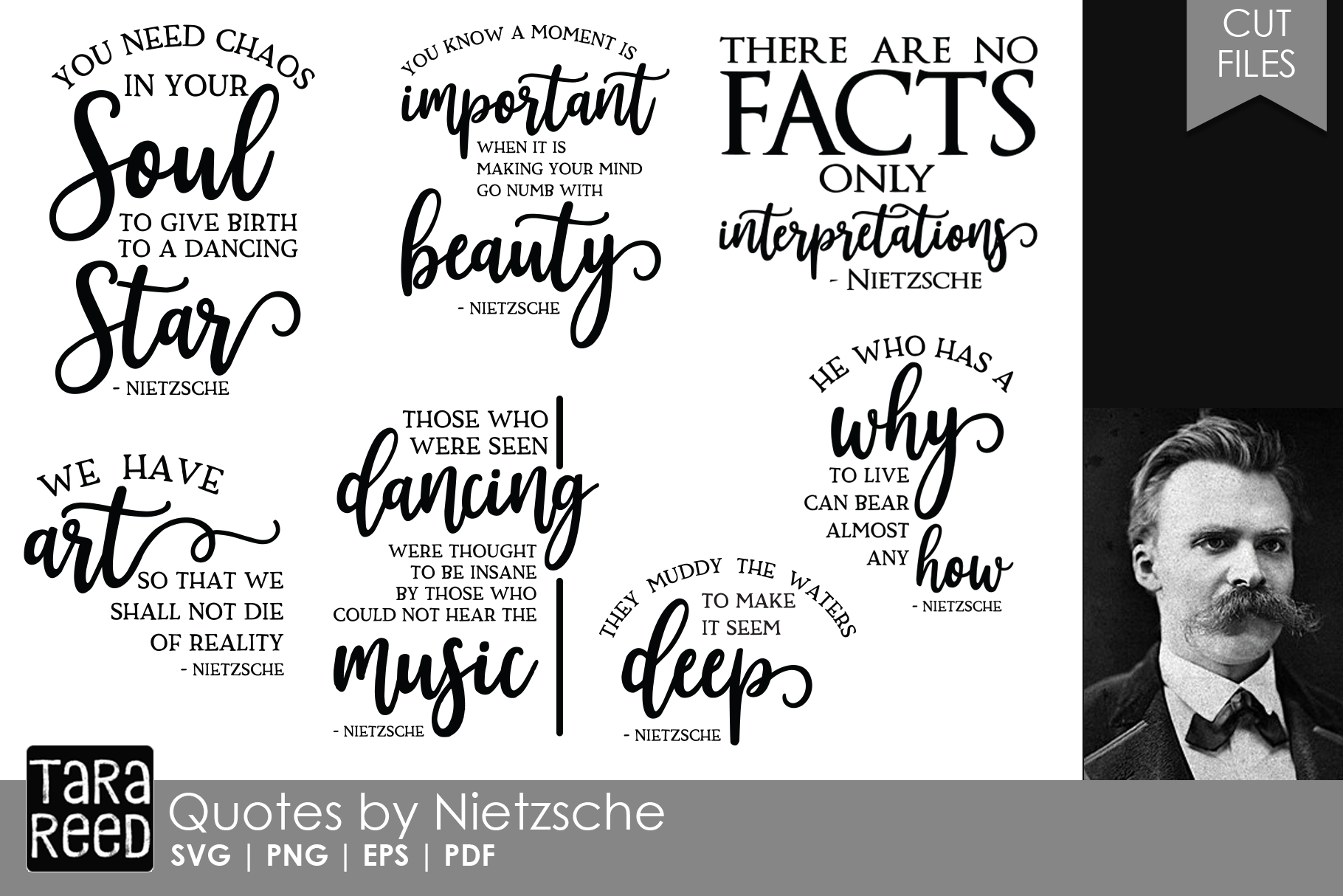 Friedrich Nietzsche Quotes - Quote SVG and Cut Files