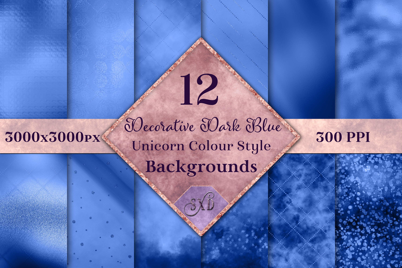 Decorative Dark Blue Unicorn Style Backgrounds Textures example image 1