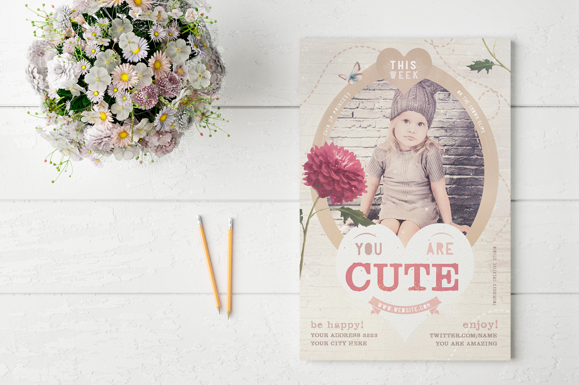 You Are Cute Flyer Template example image 2