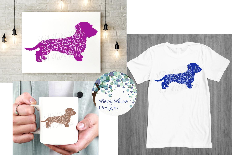 Wire Haired Dachshund | Weiner Dog Mandala | SVG Cut File example image 2