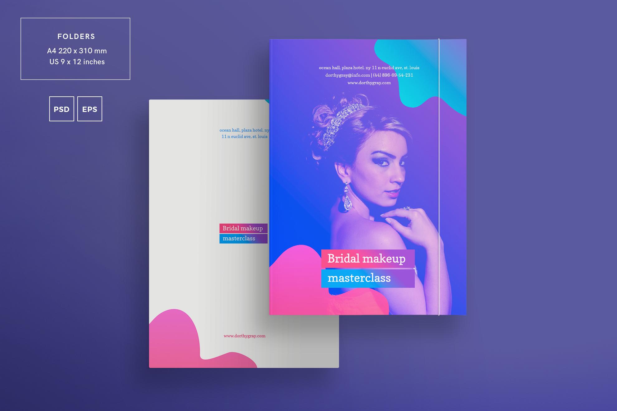 Bridal Makeup Masterclass Workout Design Templates Bundle example image 6