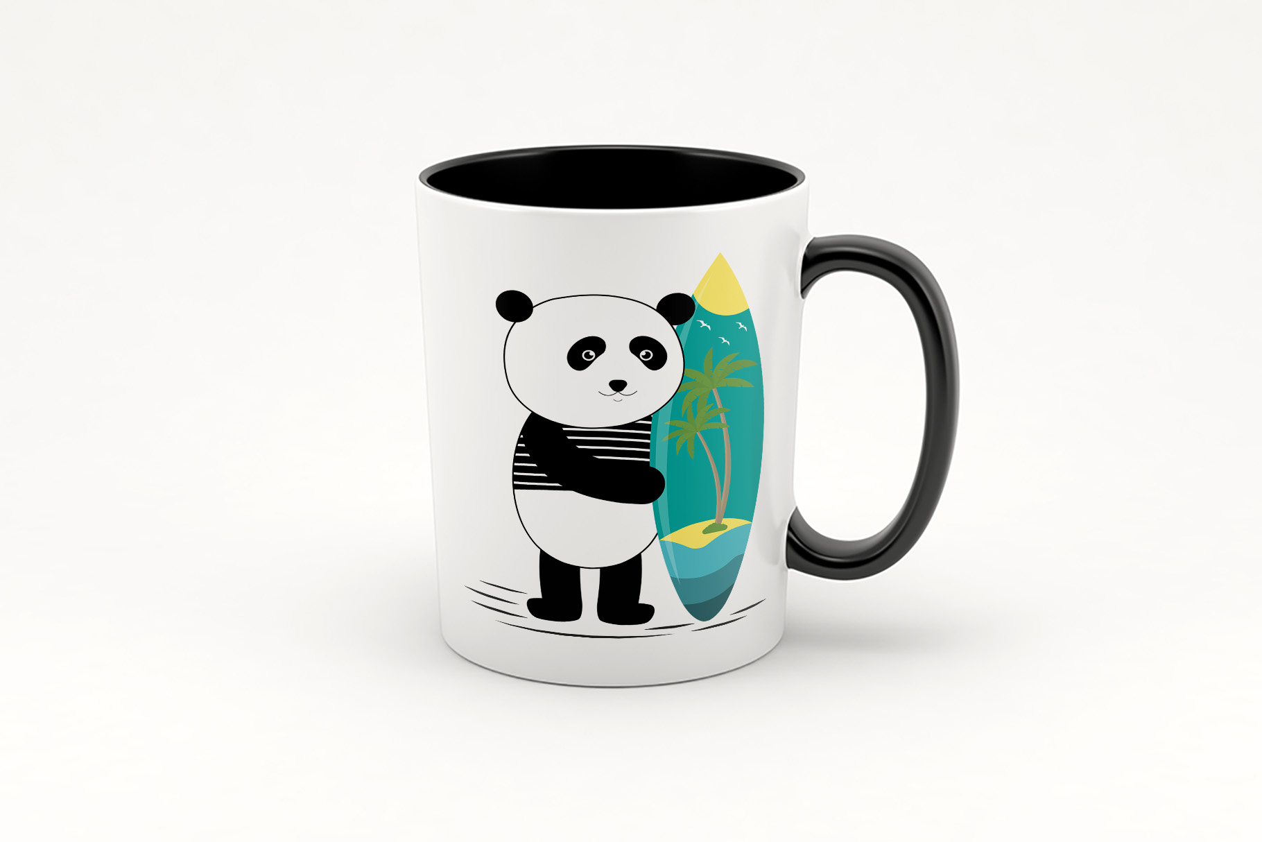 Surf along with the panda example image 2