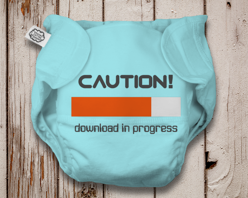 Pregnancy and Diapers Downloading SVG File Cutting Template example image 4