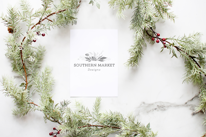 5x7 Christmas Card Stock Digital Photo Mock Up Photography example image 1