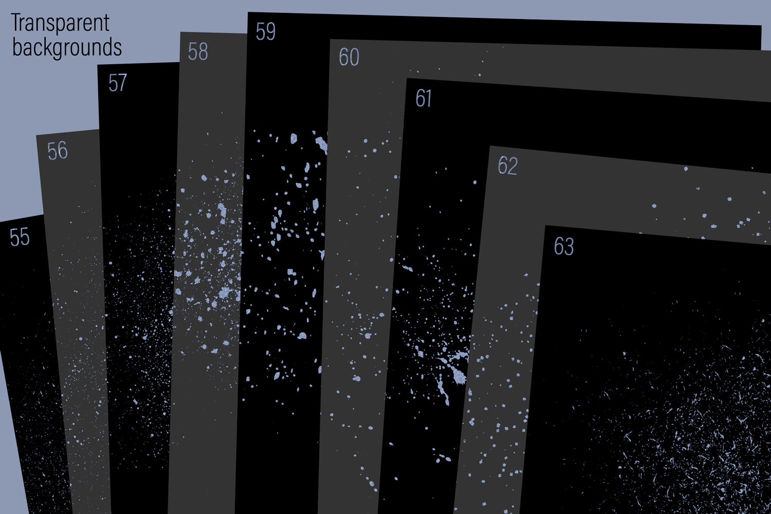 Ice Blue Dust, Dots and Specks example image 10