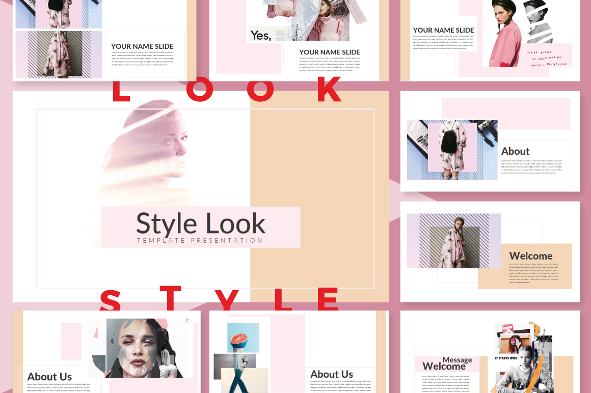 LookStyle Powerpoint Template example image 1