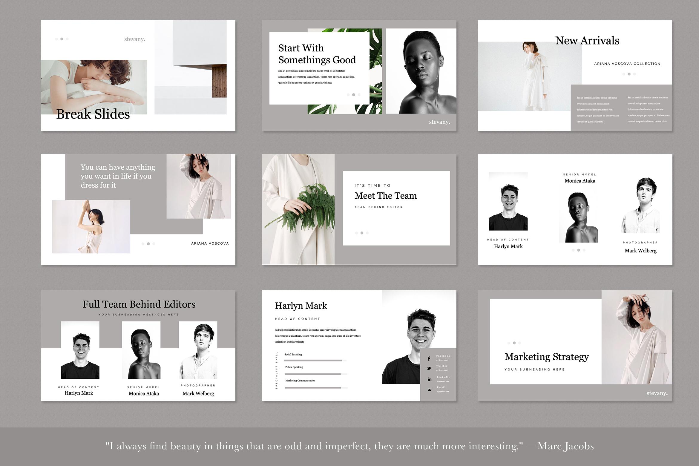 Stevany Lookbook Presentation Templates example image 4
