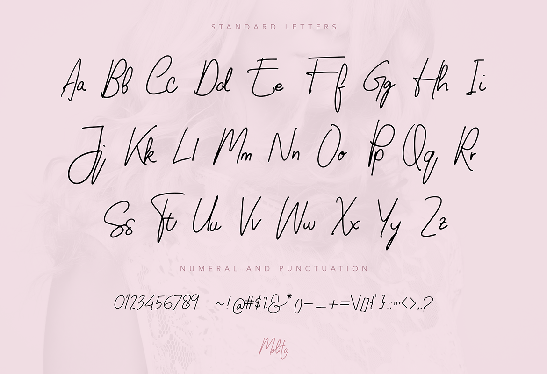 Molita Signature Script Font example image 13