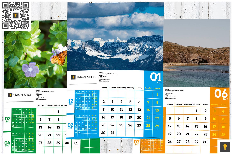 2017 Wall Calendar example image 8