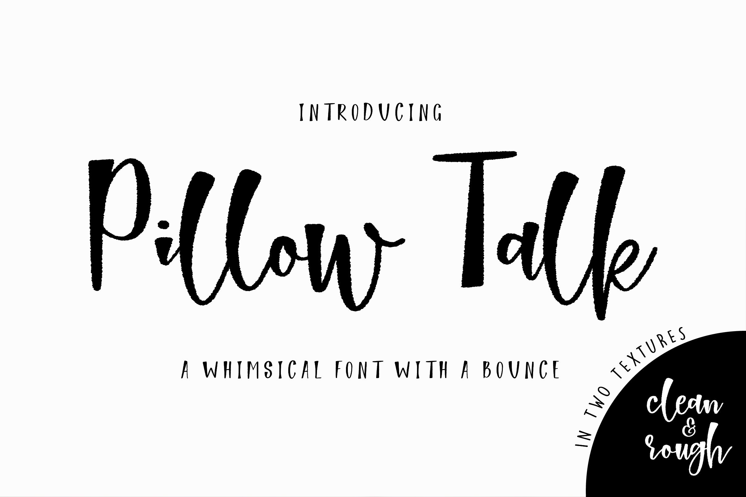 Pillow Talk Font example image 1