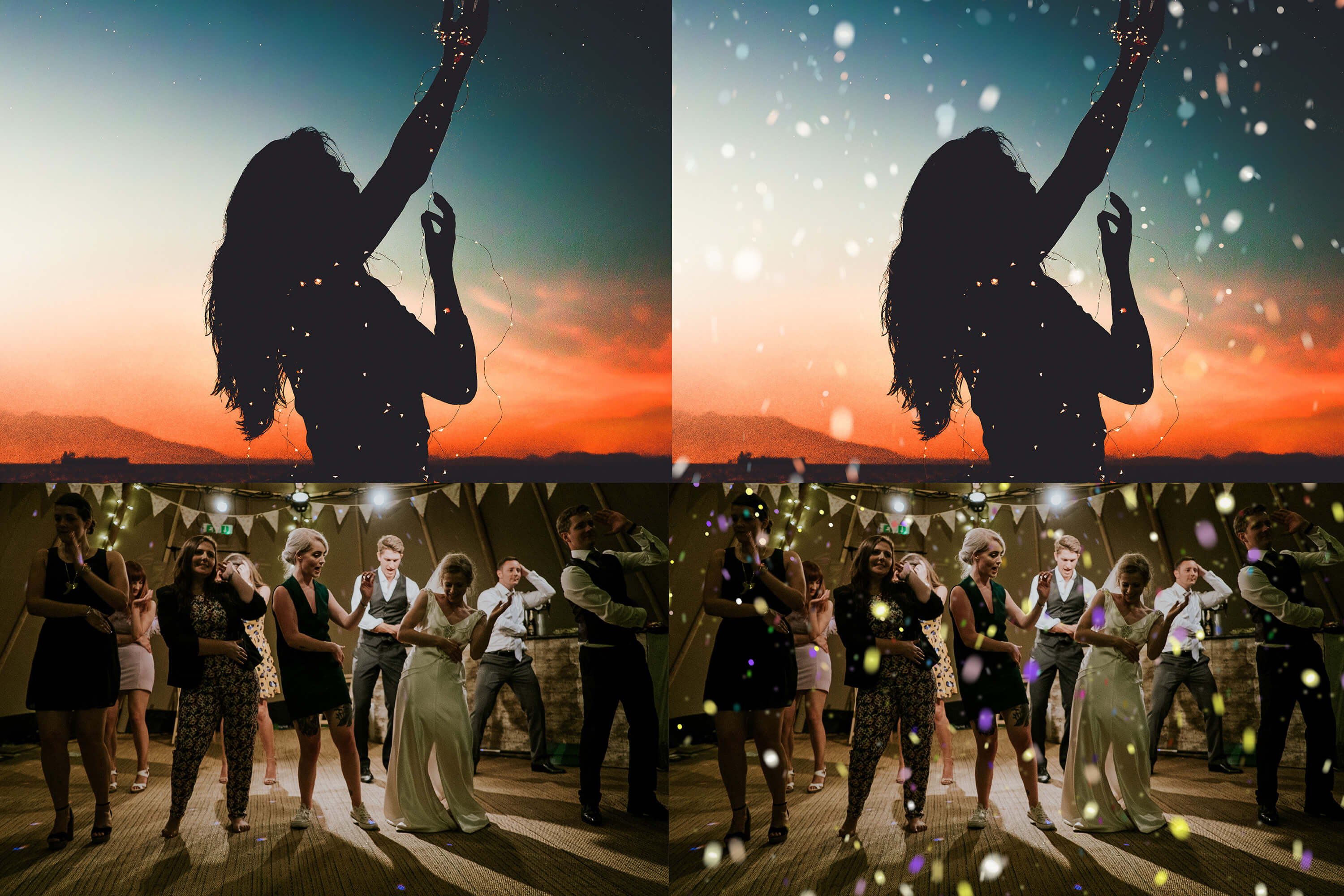Neo fantasy & Colorful Confetti Party overlay pack 1 example image 3