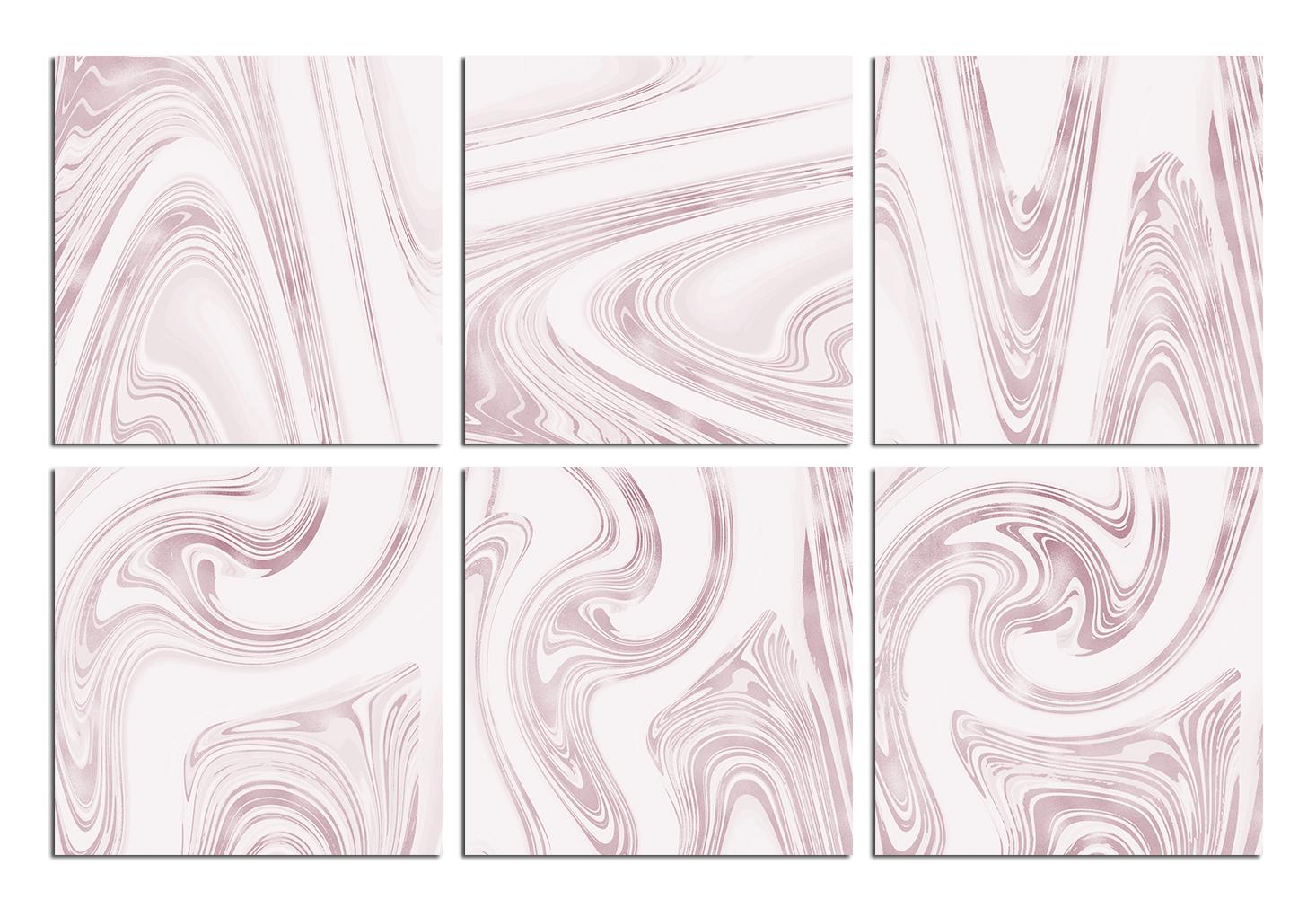 Rose Marble Digital Paper BUNDLE example image 8