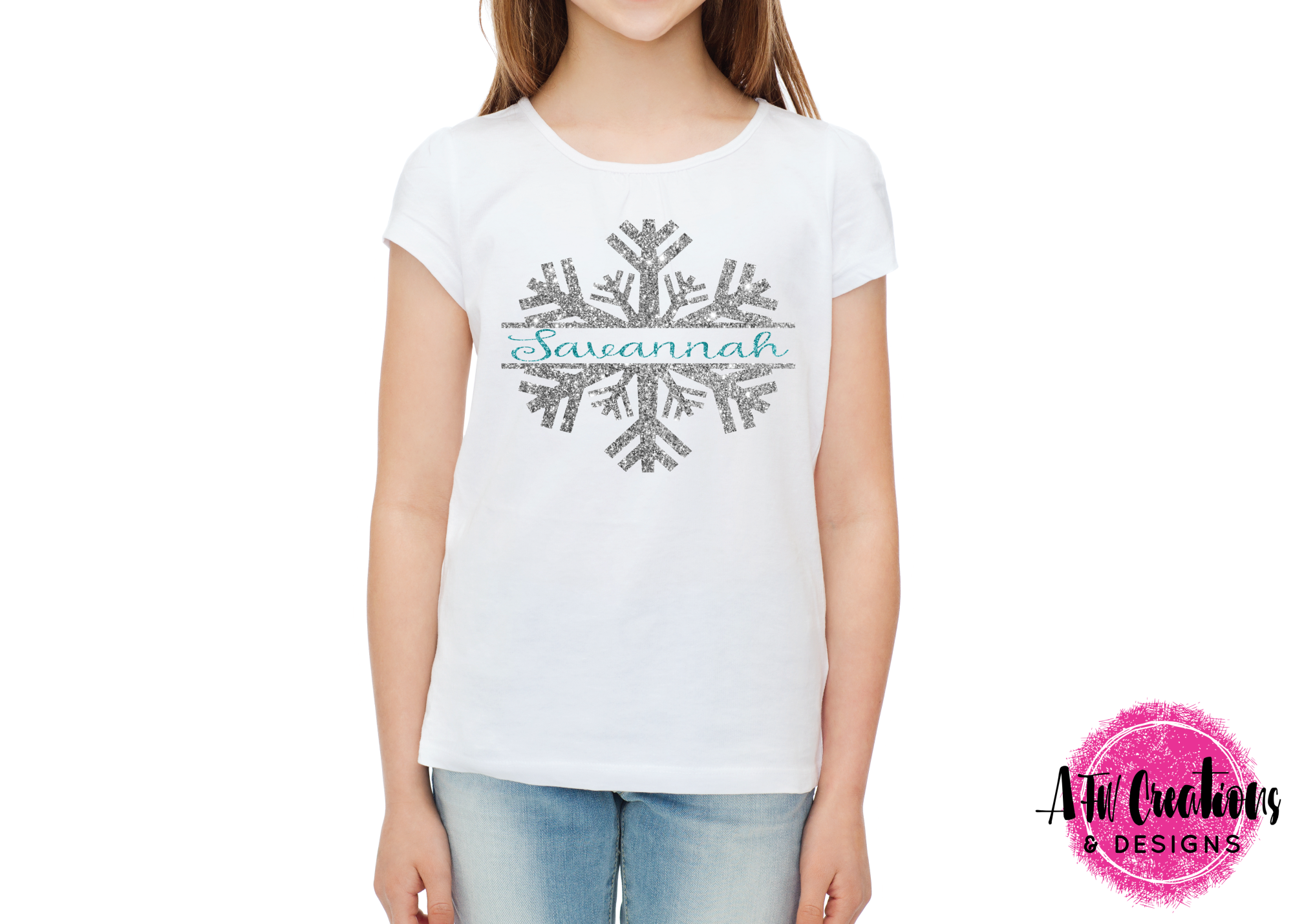Monogram & Split Snowflake Set - SVG, DXF, EPS Cut File example image 2