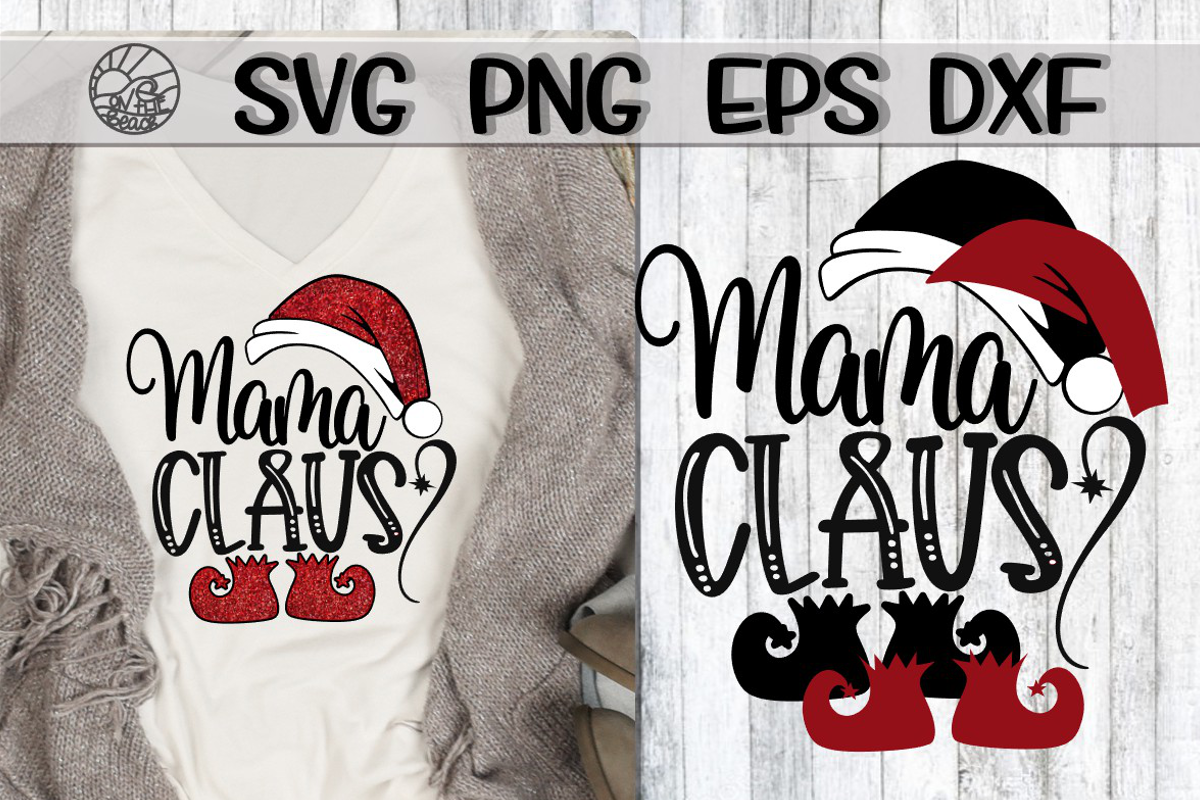 Mama Claus - SVG PNG EPS DXF example image 1