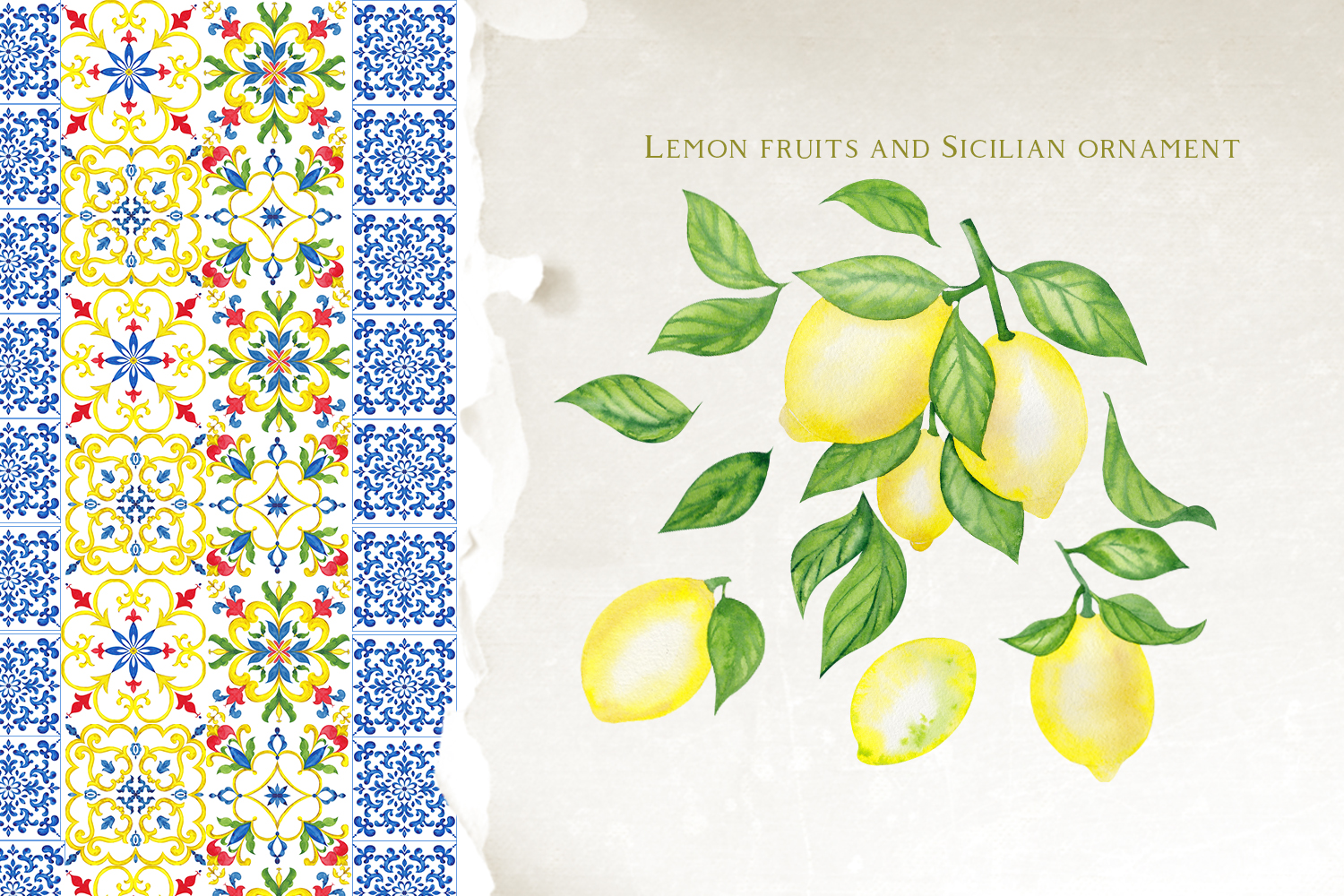 Sicily. Ornament and fruits example image 5