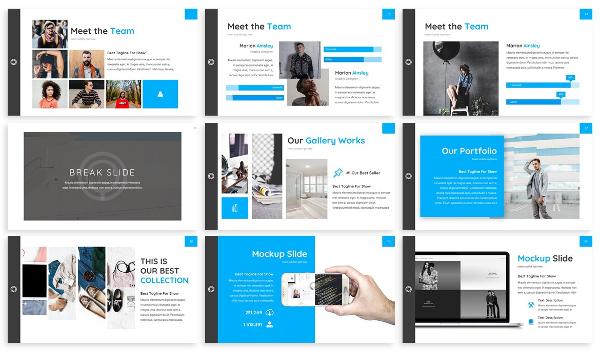 Huffre - Design Powerpoint Template example image 3