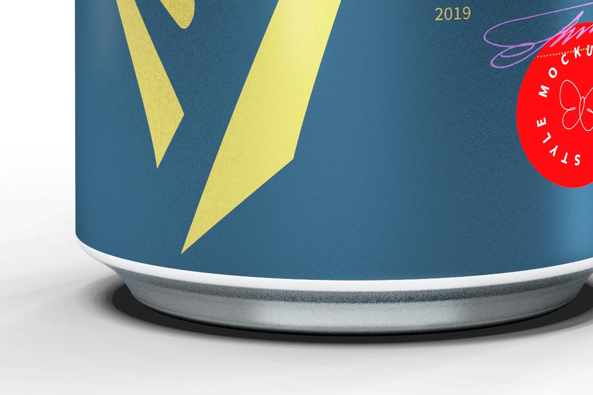 Matte Aluminum Can Mockup 500ml example image 6